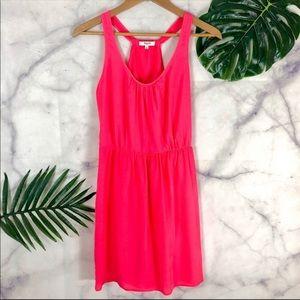 MADEWELL Hot Pink Mini Sleeveless Mini Dress 0